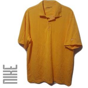 Nike Golf Dri-Fit Mustard Yellow Polo